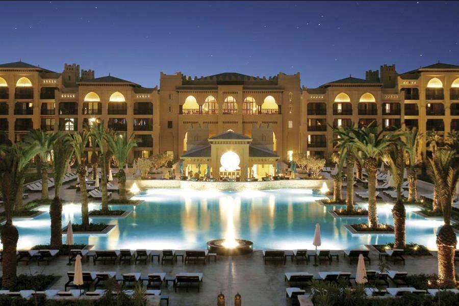 Mazagan Beach Resort Exterior Pool Night
