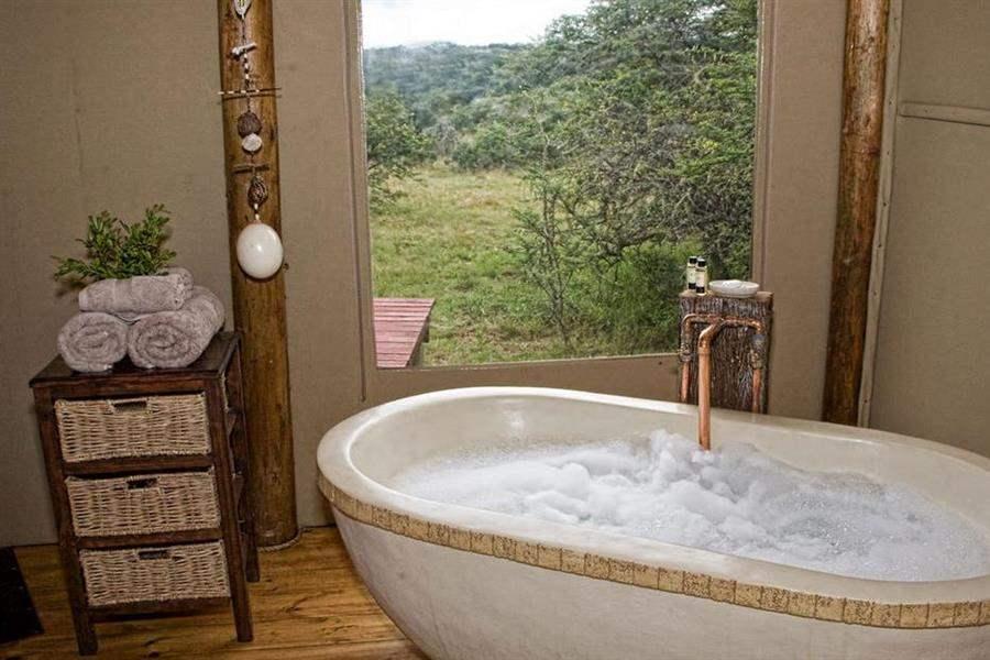 Amakhala Bush Lodge Bathroom Witha View