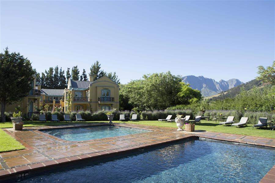 Franschhoek Country Houseand Villas Pool Mountains