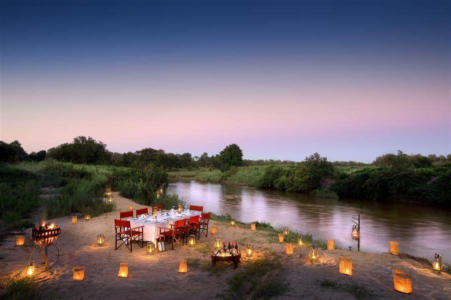 Lion Sands Ivory Lodge Candlelit Dining