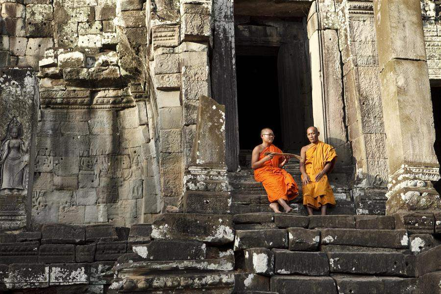 monks cambodia siem reap cambodia