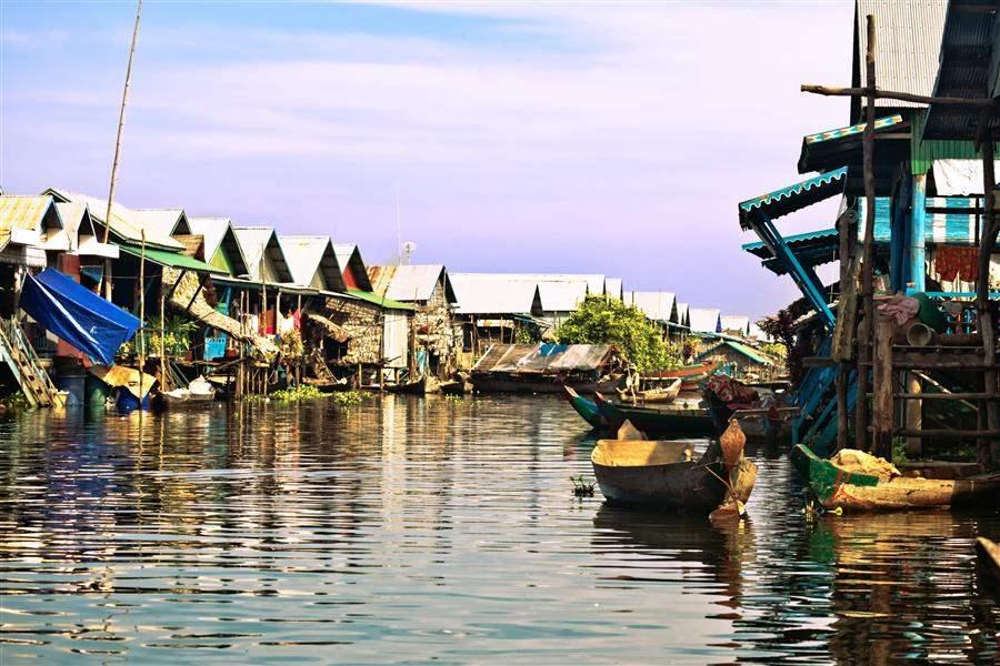 Cambodia Siem Reap Floating village Ton le Sap 1