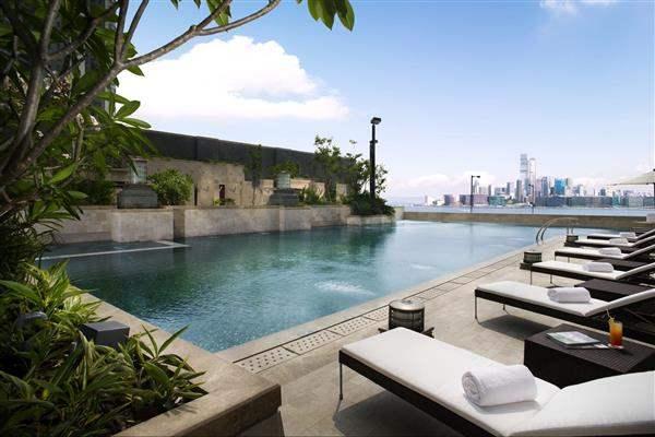 Harbour Grand Hong Kong Pool Sun Loungers