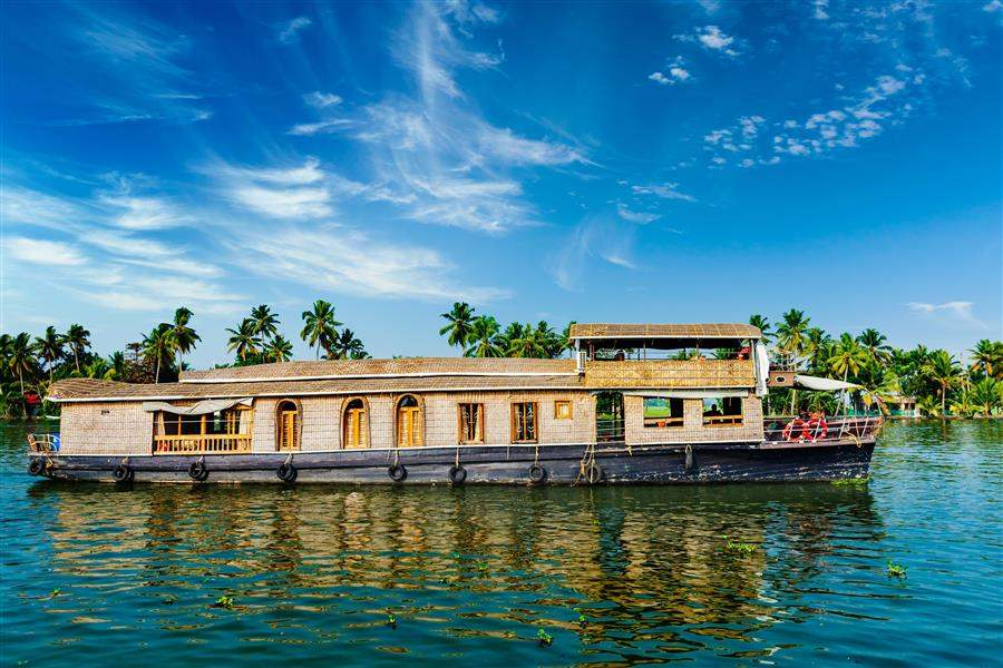 India Kerala Boat house