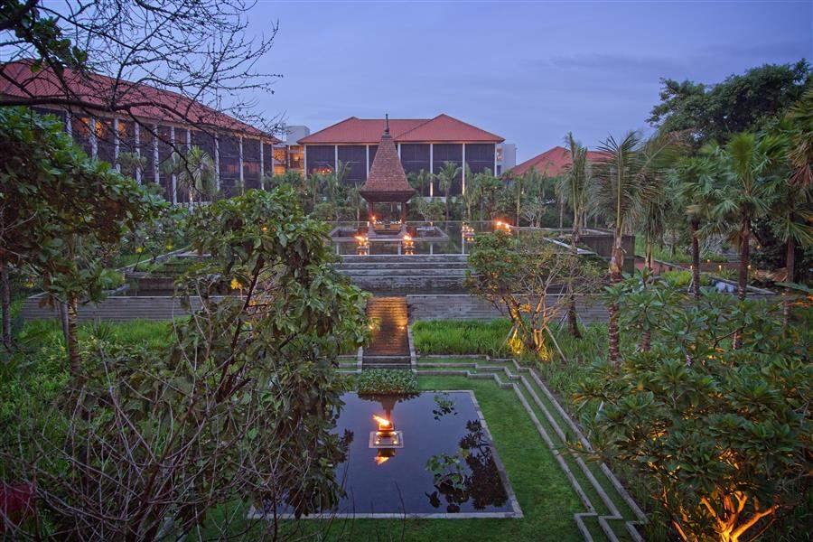Fairmont Sanur Beach Bali Garden By Night