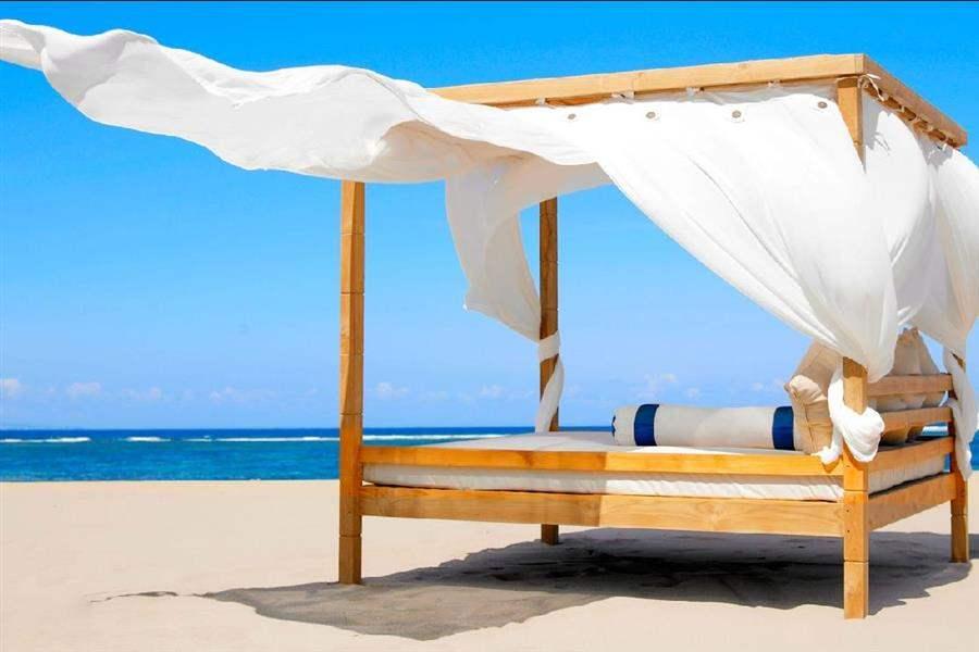 Grand Mirage Resort Thalasso Bali Bed On Beach