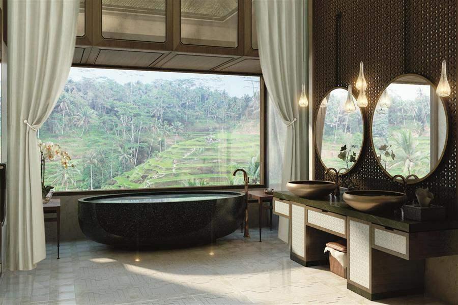 Mandapa Three Bed Pool Villa Bath