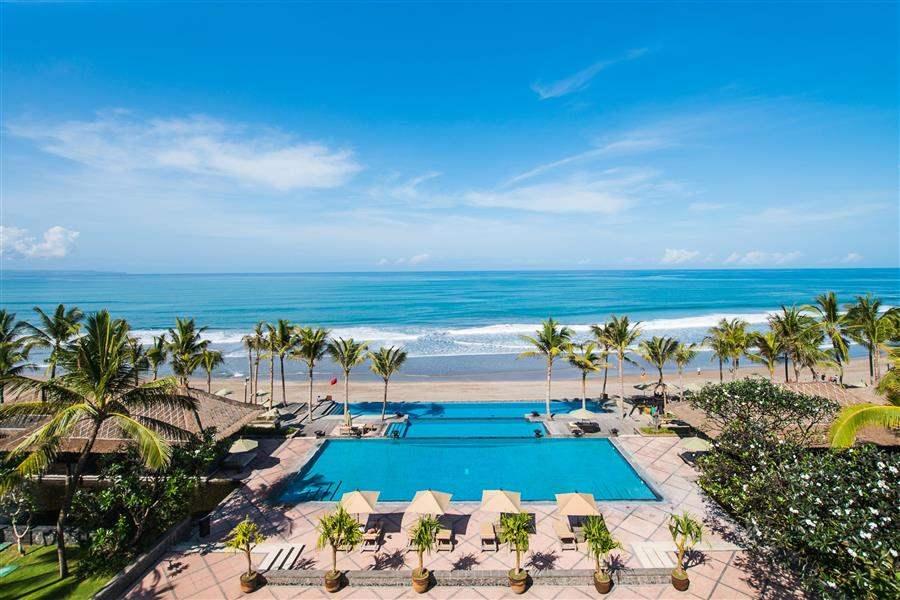 The Legian Bali Resort Aerial