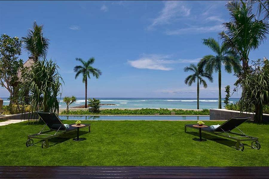 The Ritz Carlton Bali Sun Loungers Outside