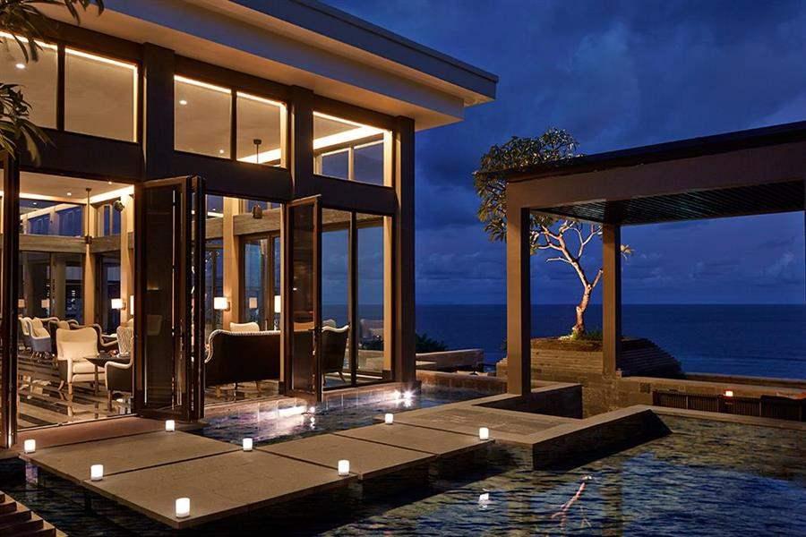 The Ritz Carlton Bali Hotel Exterior Night