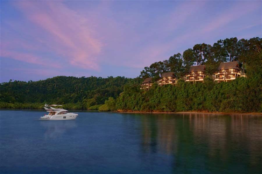 Gaya Island Resort Borneo Hotel From Water Boat