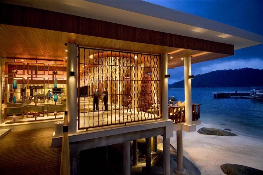 Pangkor Laut Main Resort  and Spa Village Hotel Exterior Dusk