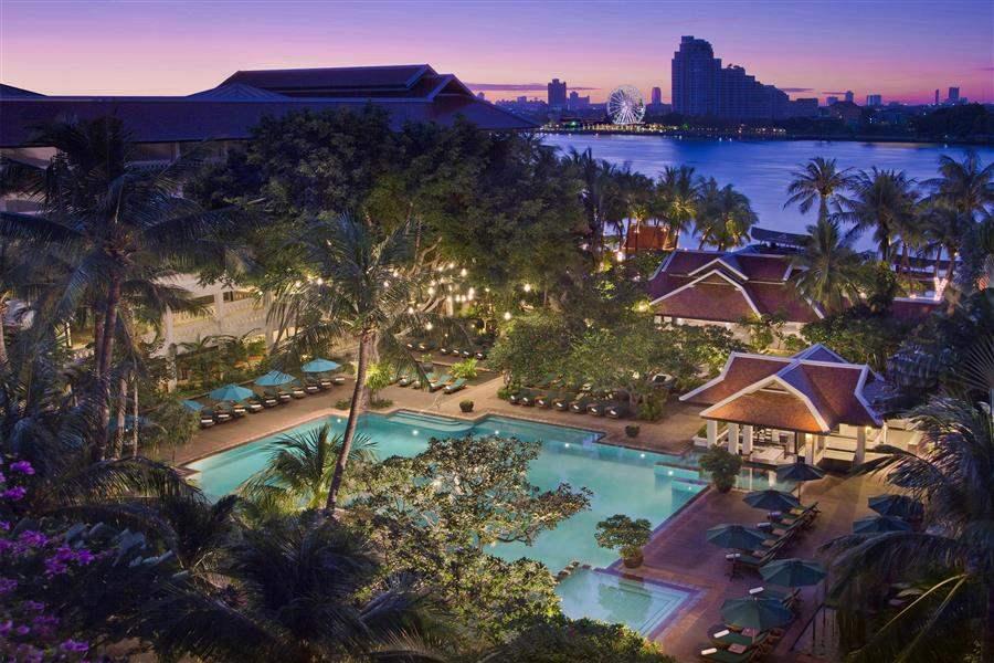 Anantara Bangkok Riverside Resort Spa Hotel Aerial View