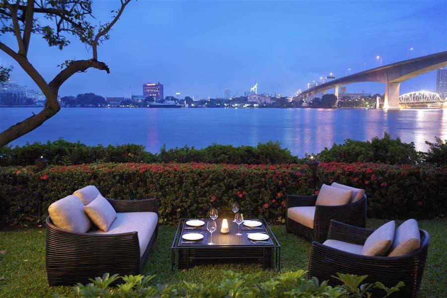 Anantara Bangkok Riverside Resort Spa Dining Outdoors