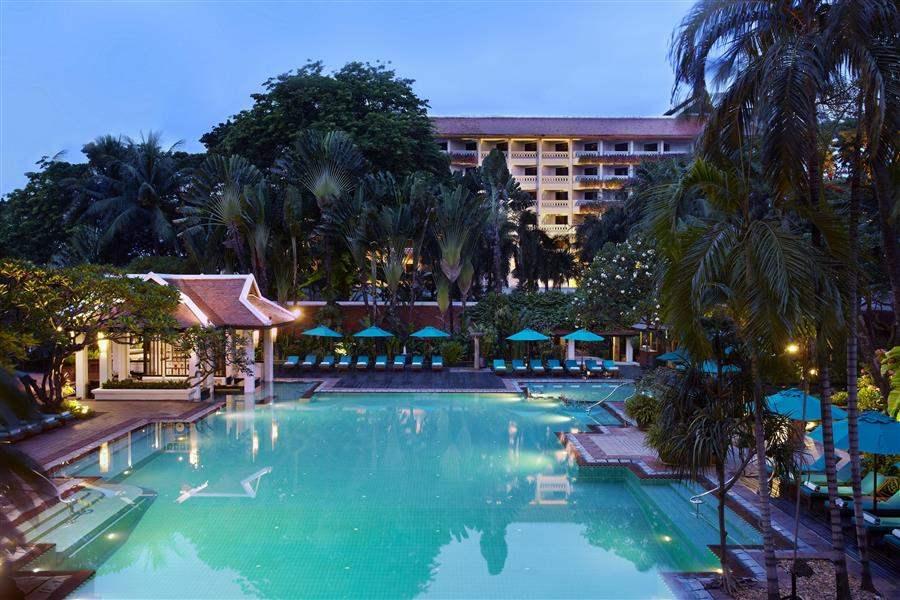 Anantara Bangkok Riverside Resort Spa Pool Night View
