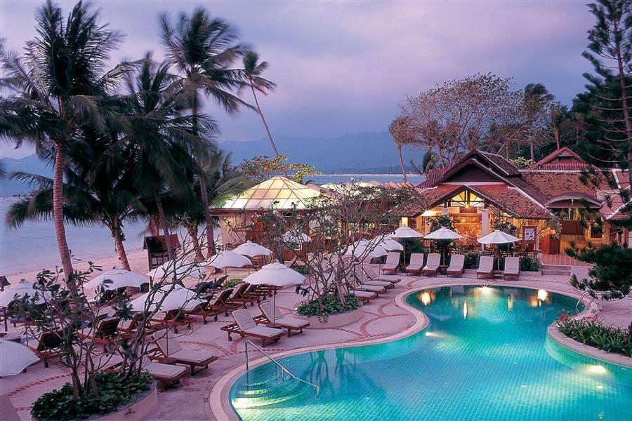 ResortAerialDusk