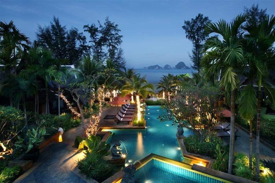 Amari Vogue Resort Hotel Aerial Night