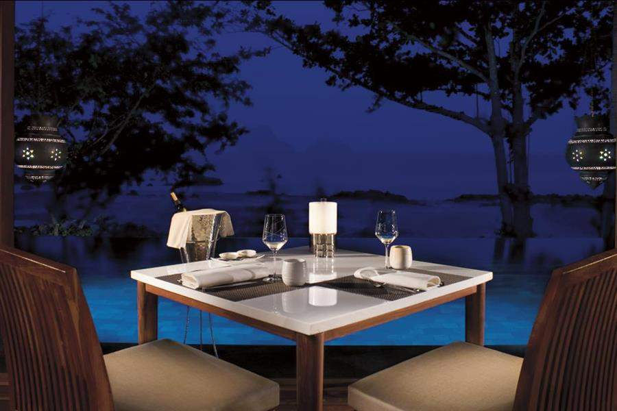 Phulay Bay A Ritz Carlton Reserve Outdoor Dining Night