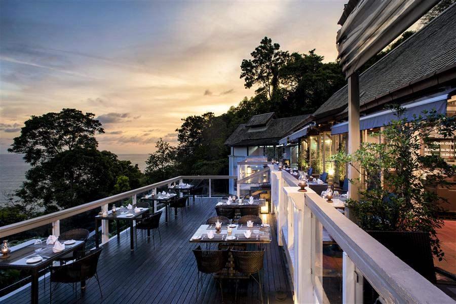 Cliff Restaurant Sunset