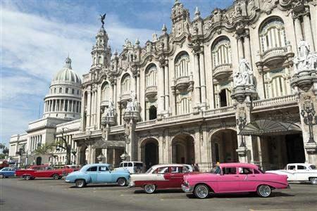Havana Cuba Cars by colonial building
