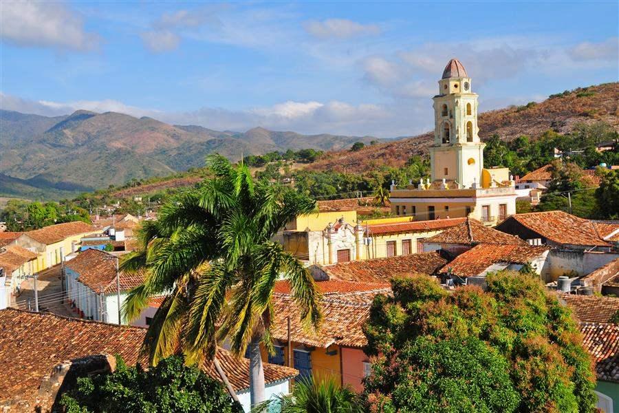 Trinidad Cuba village in hills