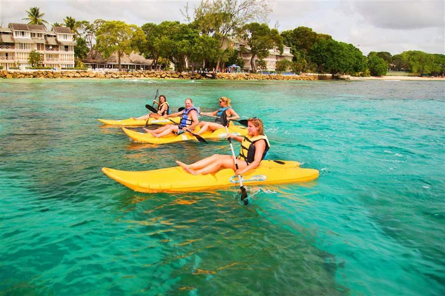 The Club Barbados Resort and Spa Family Kayaking