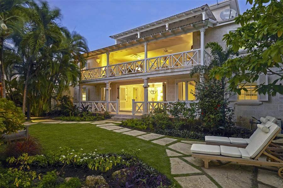 The Lonestar Barbados Villa Exterior Night