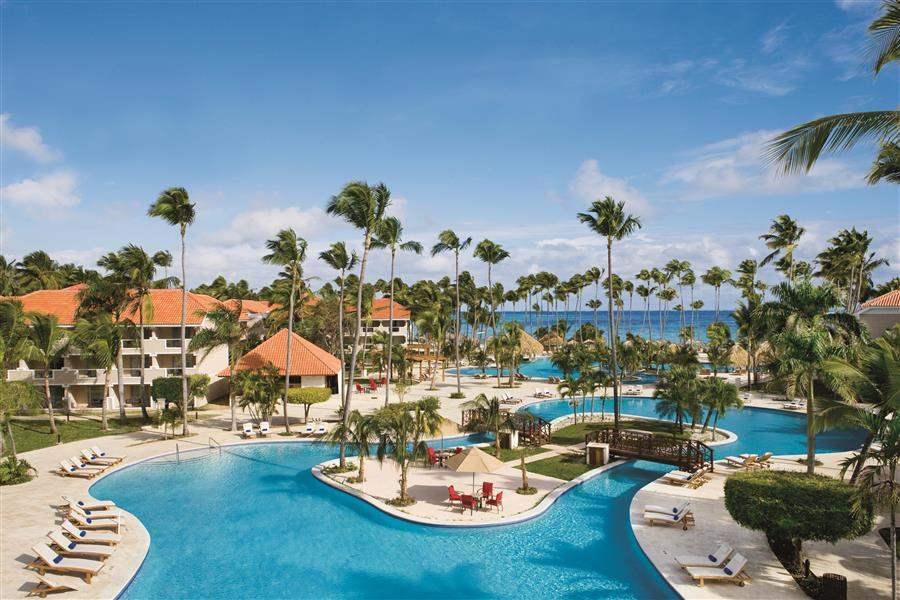 Dreams Palm Beach Punta Cana Pool Aerial
