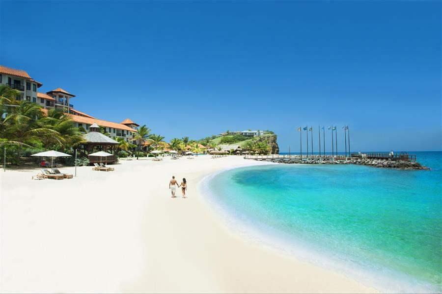 Sandals La Source Grenada Resort and Spa Couple On Beach