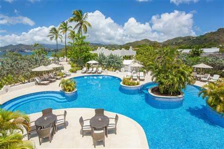 Spice Island Beach Resort Pool Aerial