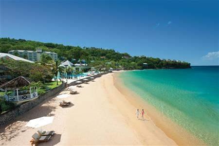Sandals Regency La Toc Spa Beach Resort Beach Aerial