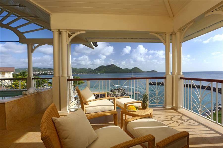 The Landings St Lucia Terrace Area