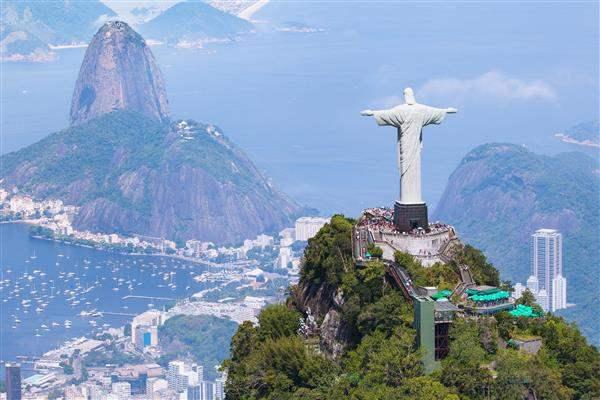Christ the redeemer sugar loaf mountain rio brazil