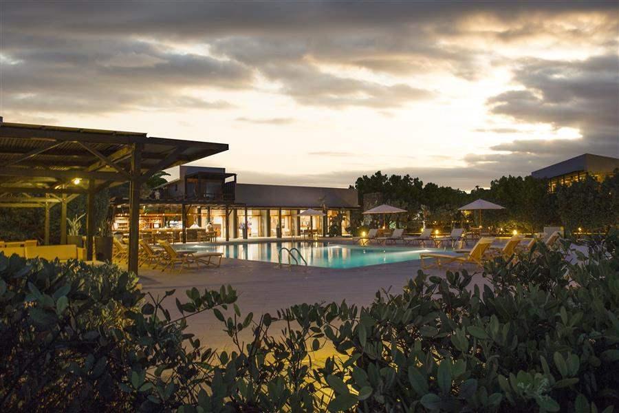 Finch Bay Resort Pool Night