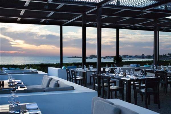 Restaurant at sunset