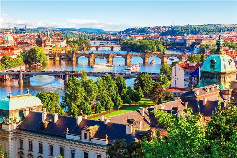 River with bridges