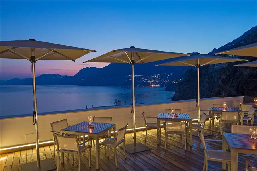 Bar terrace at night