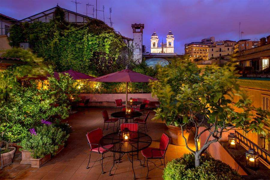 Roof terrace and view