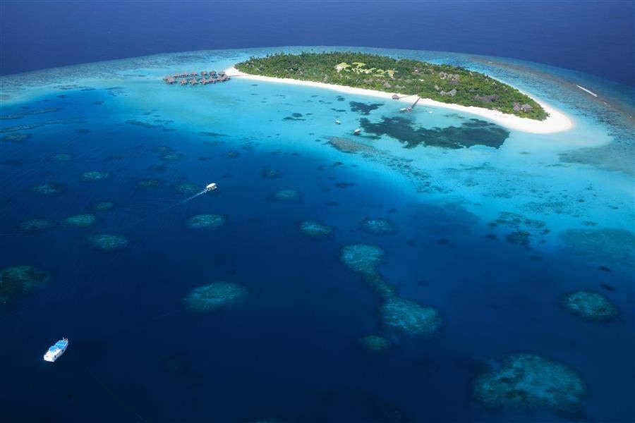Coco Palm Dhuni Kolhu Island Aerial