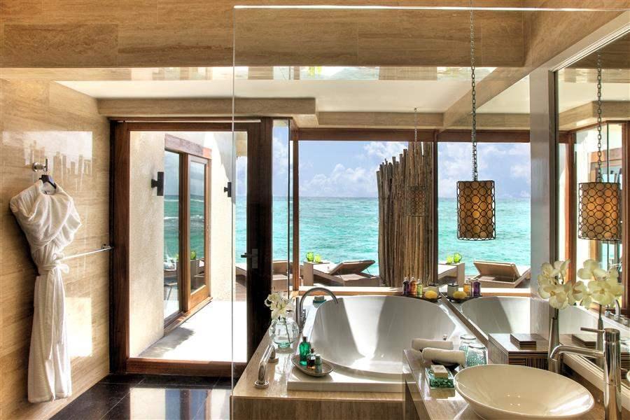 Vivanta By Taj Coral Reef Maldives Water Villa Bathroom