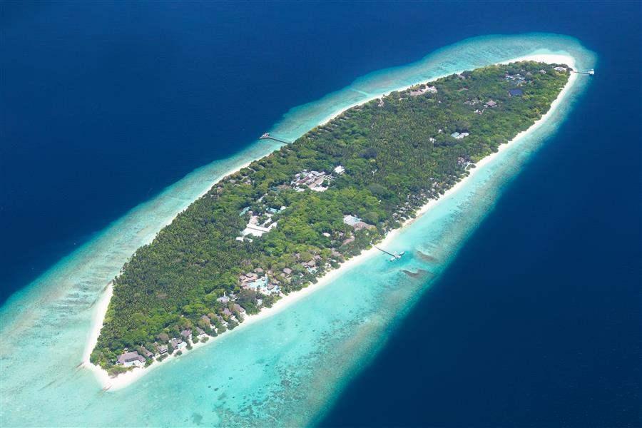 Soneva Fushi Resort Island Aerial