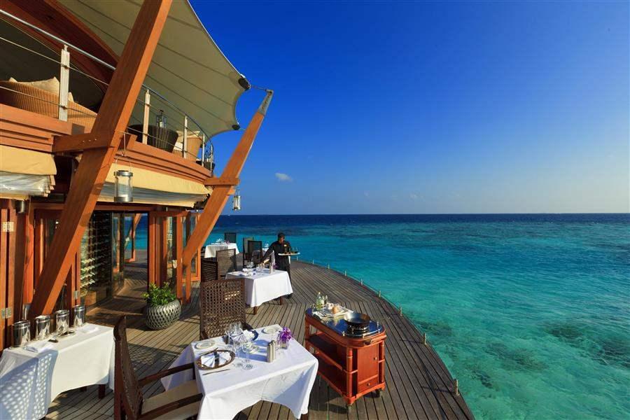 Baros Maldives Overwater Dining