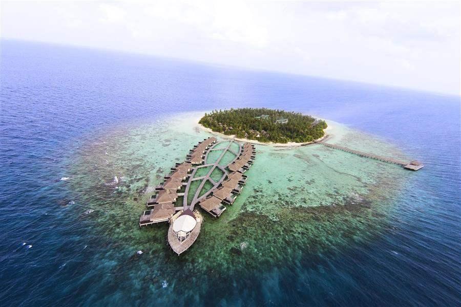 Outrigger Konotta Maldives Resort Aerial