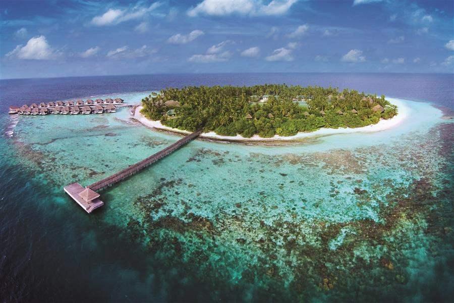 Outrigger Konotta Maldives Resort Aerial View