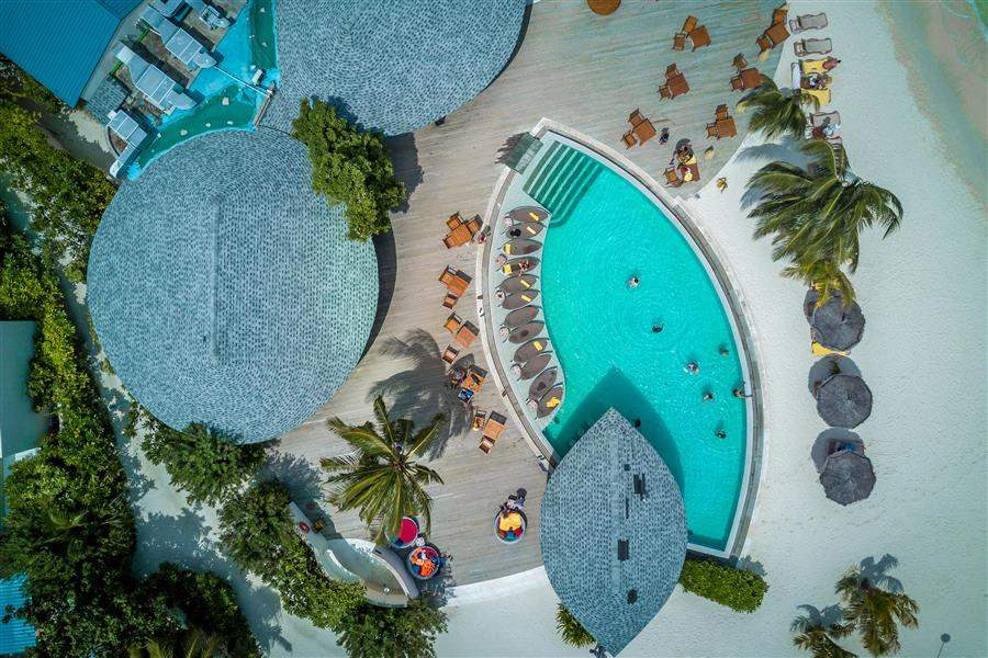 Ras Fushi Pool Aerial