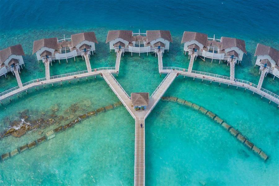 Water Villas Aerial Drone