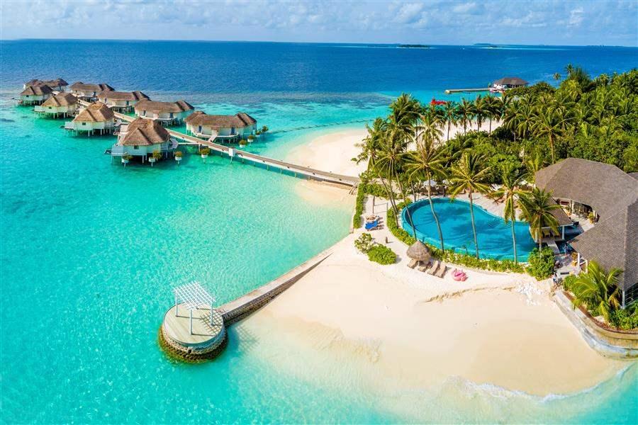 Island Villa Drone View
