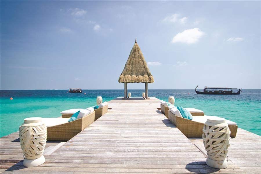 Jumeirah Vittaveli Maldives Arrival Jetty