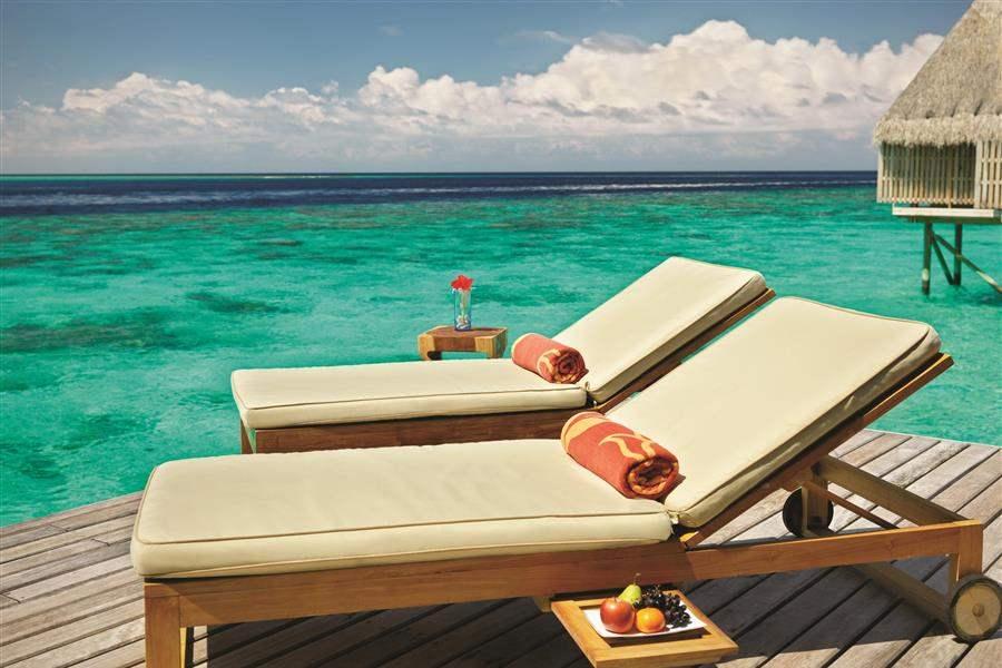 Jumeirah Vittaveli Maldives Ocean Suite Loungers