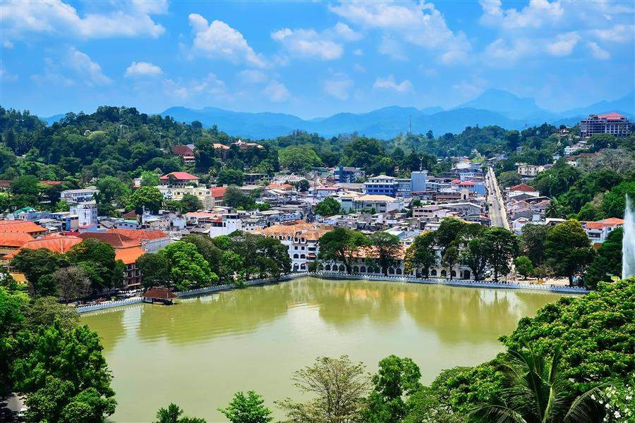 Kandy and lake Sri Lanka